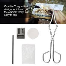 Di fusione Kit di Silice Crogiolo di Asta di Grafite Grafite Lingotto Muffa 30g Borace 25 centimetri Crogiolo Tong strumenti di gioielli per Gioielliere strumento di gioielli