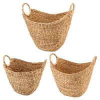 Large Woven Storage Basket With Braided Handles Natural Blankets Towels Pillows Toys Laundry Barrel Home Organizer