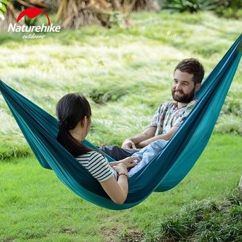 Naturehike 1-2 Persons Ultralight Single Double Camping Hammock Outdoor Hammock Swings Hanging Tent Portable Sleeping Bed 3