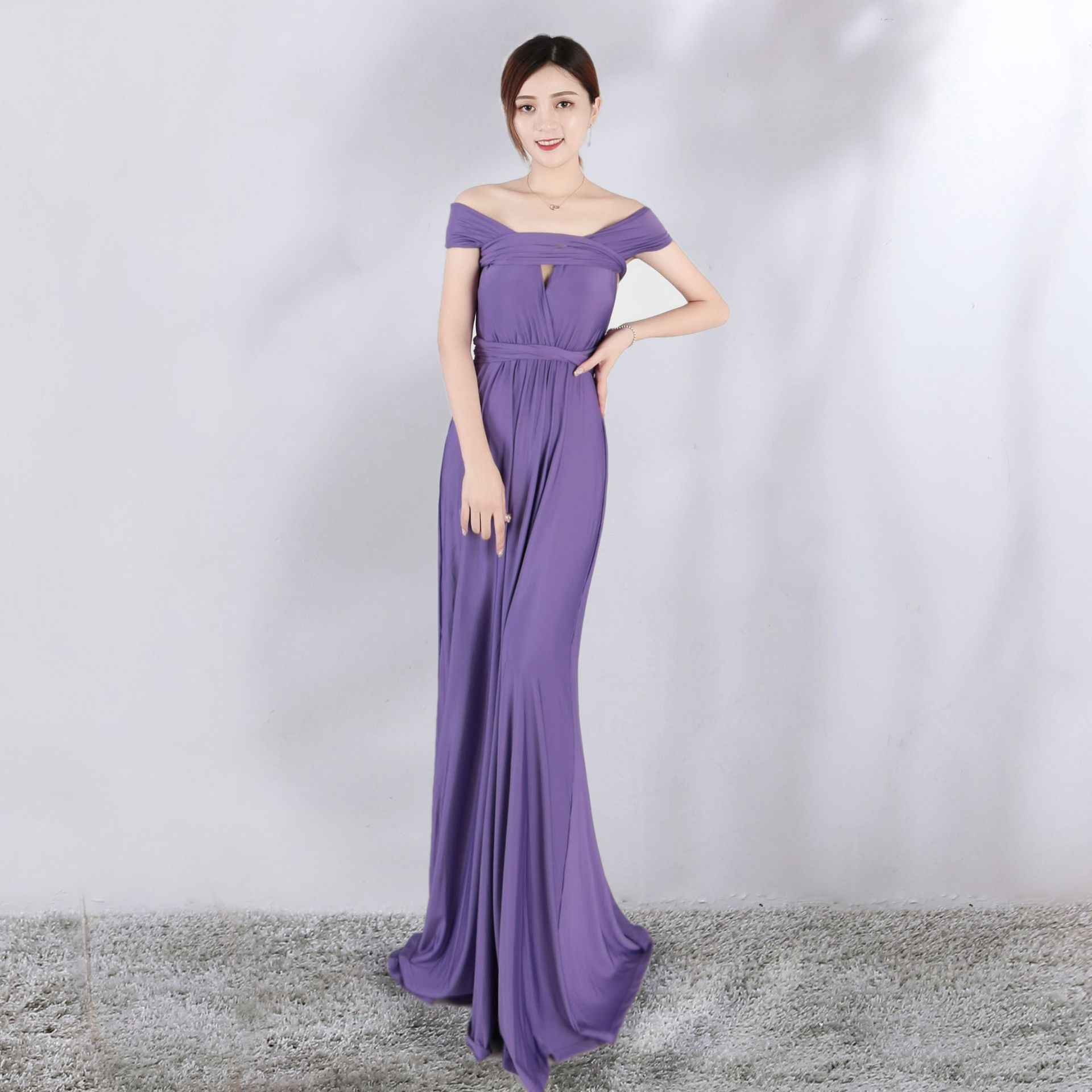 Popodion Bridesmaid Dresses Worn More Sexy More Rope Bandage 14 Color Long  Dress Wedding Guest Dress 524163a7bf1e