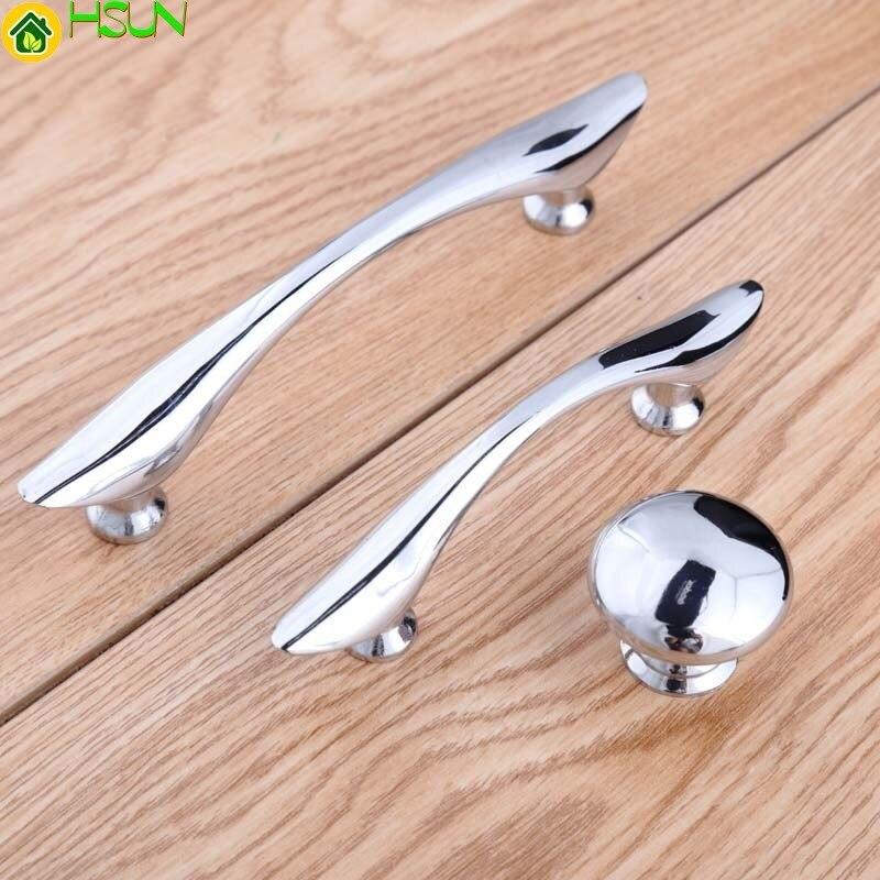 64mm Moderne Simple Shiny Silver Lade Schoenenkast Trekt Knoppen 96mm Heldere Chrome Keuken Kast Wijnkast Dressoir Handgrepen Hoge Standaard In Kwaliteit En HygiëNe