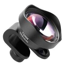 Pholes 75mm objectif Macro Mobile téléphone caméra objectifs Macro pour Iphone Xs Max Xr X 8 7 S9 S8 S7 Piexl Clip sur objectif 4k Hd