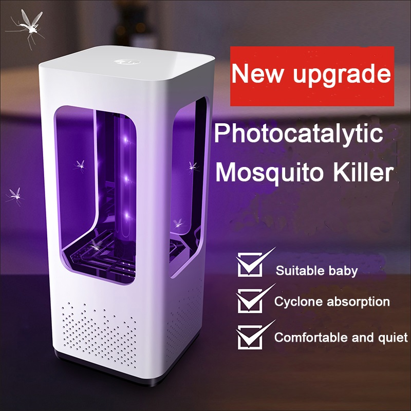 Electric USB Photocatalytic Mosquito Killer Lamp Trap Pest Control LED Bug Anti Mosquito Insect Repellent Fly UV Night Light(China)