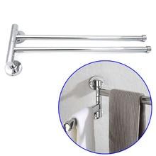 Bathroom Arm Towel Bars 2-Arm Wall Mount Swing Out Rotate Towel Shelf Stainless Steel Rack WXV Sale цена 2017