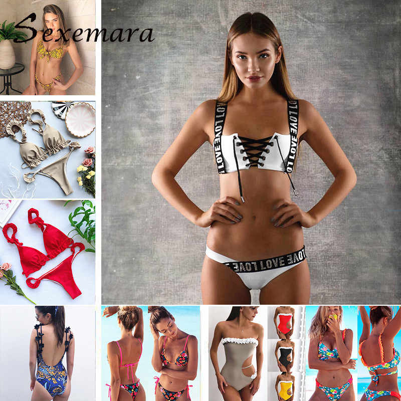113d9caec5e0f Sexy Bikini Swimsuit New Swimwear Female Bikinis Women Bathing Suit Push Up  Brazilian Crochet Bikini Maillot