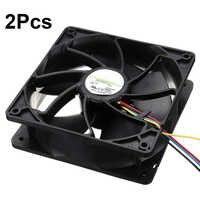 6500 obr/min procesor komputera wymiana wentylatora chłodzącego 4-złącze pinowe PWM regulacja temperatury dla Antminer Bitmain 12 V/1.85A S7 S9 czarny