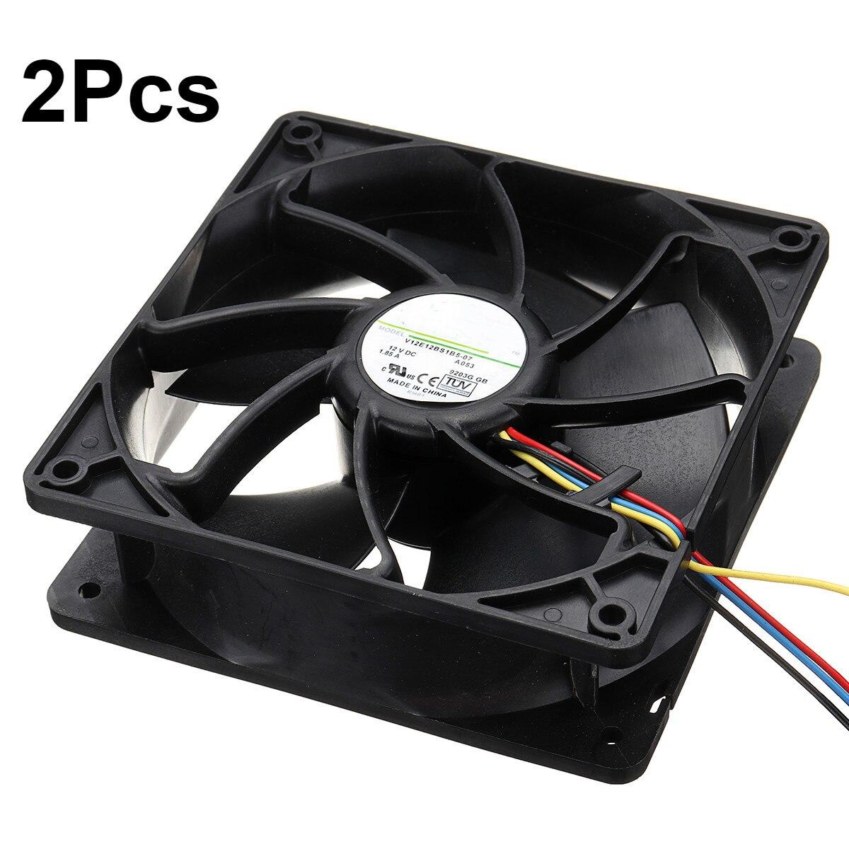 6500RPM CPU Del Computer Ventola Di Raffreddamento di Ricambio 4-pin del Connettore PWM di Controllo della Temperatura Per Bitmain Antminer 12 V/ 1.85A S7 S9 Nero