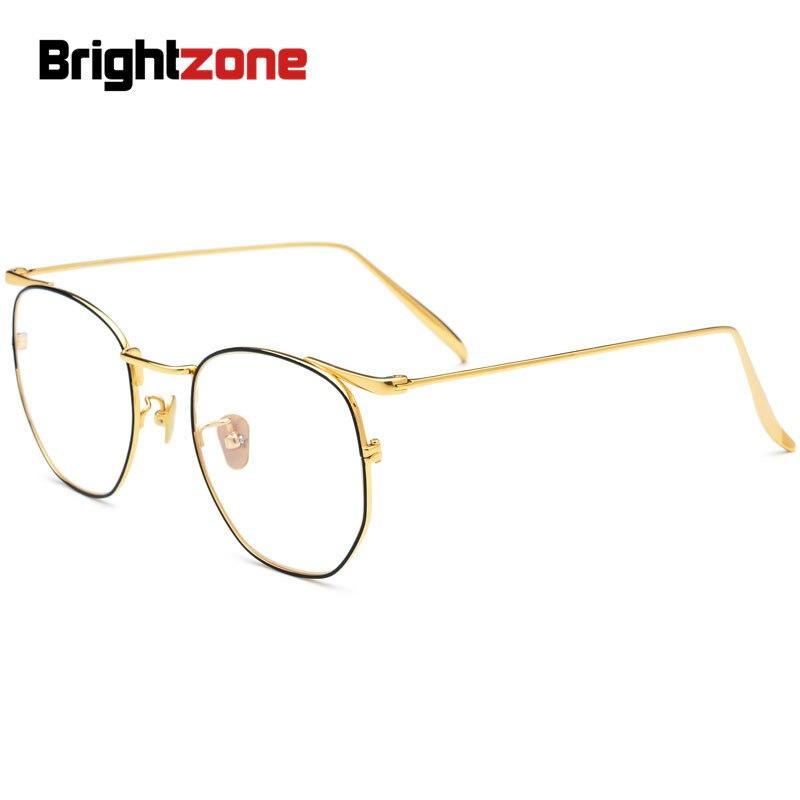 Brightzone 2019 mode myope yeux marques cadre hommes femmes pur titane optique dames lunettes Prescription pour lunettes jantes