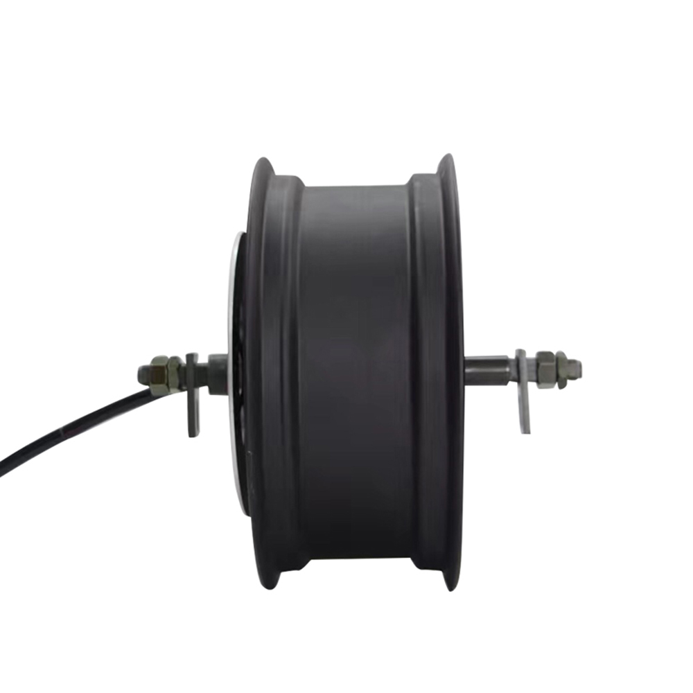 Super Power <font><b>qs</b></font> <font><b>5000W</b></font> V3 72V100KPH 12*5.0inch width single shaft in-wheel hub <font><b>motor</b></font> Detachable design image