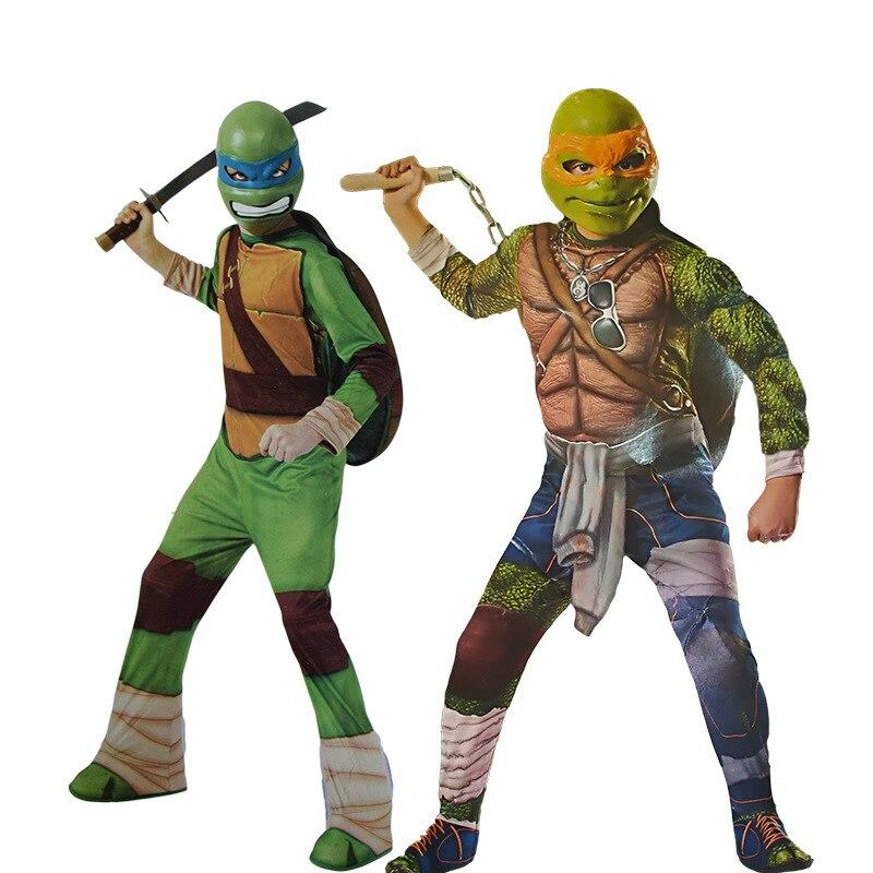Anime Cosplay pour Teenage Mutant Ninja Turtles Salopette sans masque Robes Bébé Barboteuses Costume pour Enfants Halloween Party
