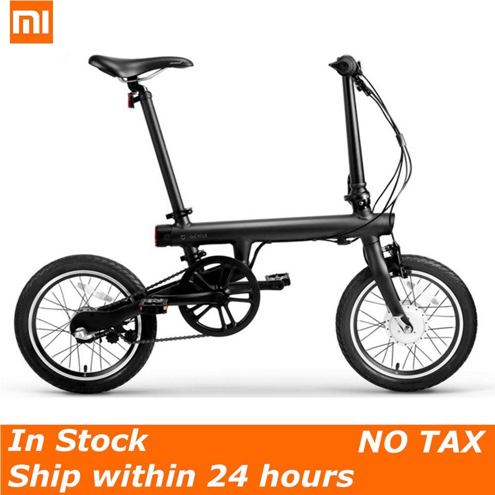 100% D'origine Xiaomi QiCYCLE-EF1 vélo électrique pliant Bluetooth Smart Électrique Vélo 16 pouces Mini Vélo APP Pas de Tout Impôt