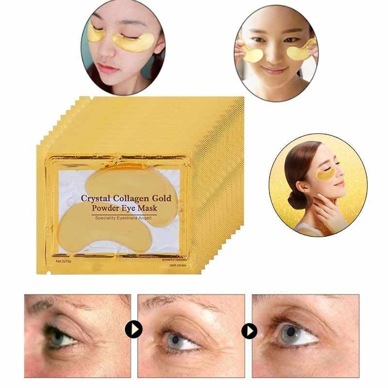 10pcs=5packs Gold Eye Mask Patch For Eye Crystal Collagen Mask Moisturizing Anti Aging Anti Wrinkle Dark Circles Remove Eye Care