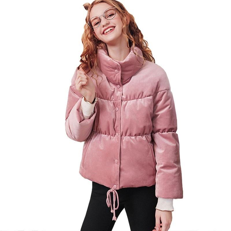 e6d098867 Corto Exterior Las Prenda Invierno Abrigo Nuevo De Plumas Pink Pato Collar  Moda Hj113 Superior Blanco Grueso Mujer 2018 Chaqueta ...