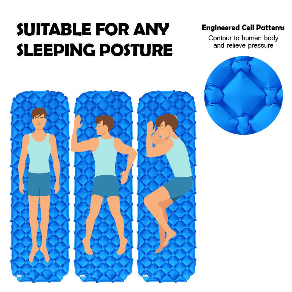 Надувной коврик кемпинговый коврик с подушкой Воздушный Матрас Подушка спальный мешок воздушные диваны надувной пляжный коврик Пикник матрас