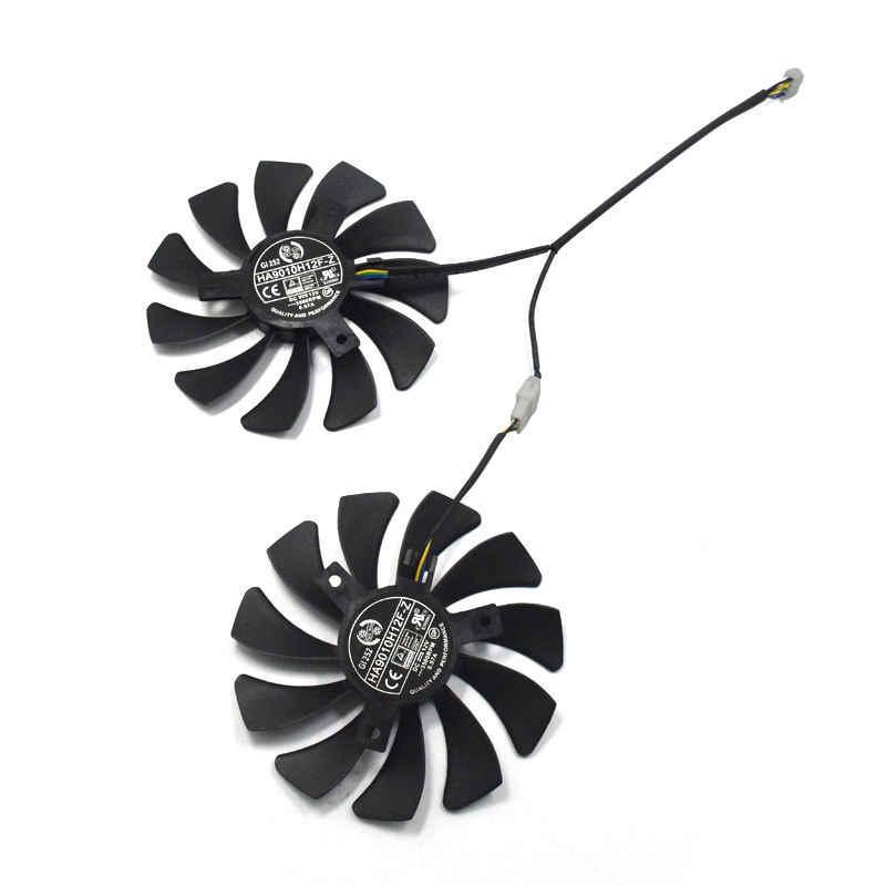 Novo 1 par de placa gráfica fã 85mm Ha9010H12F-Z 4pin substituição do ventilador refrigerador para msi gtx 1060 oc 6g gtx 960 P106-100 p106 gtx106