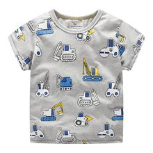 2019 summer children tshirts solid cotton cartoon printing T-Shirts For Boys Short sleeve Tees & tops child clothes brand Tees