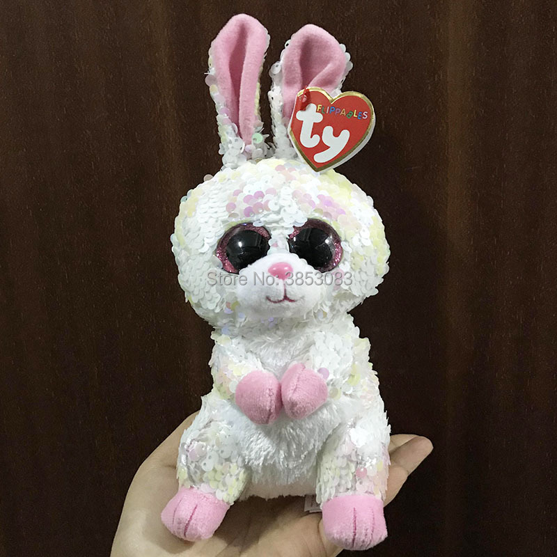 """2019 Nieuwe 6 """"ty Flippables Sparkle De Speciale Bonnie Konijn 15 Cm Pluche Knuffeldier Collectible Soft Doll Toy Kerstcadeau"""