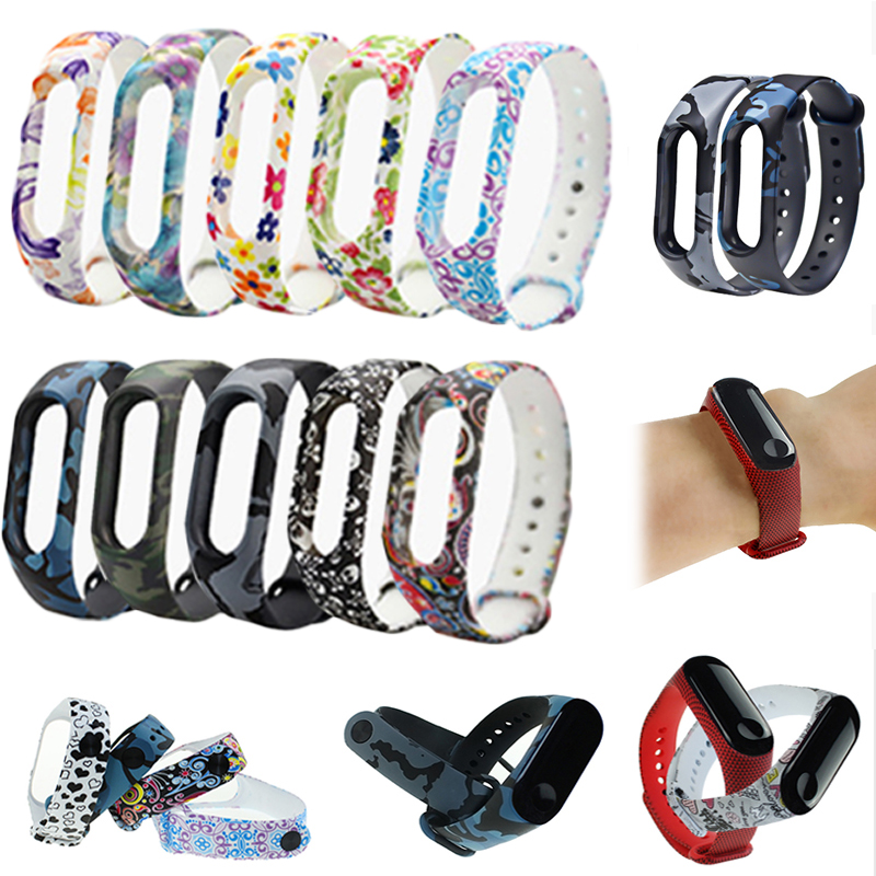 Fashion Adjustable Soft Printing For Xiaomi Mi Band 3 <font><b>Unisex</b></font> Silicone <font><b>Bracelet</b></font> Strap Wristband For <font><b>Watch</b></font> Replacement Band image