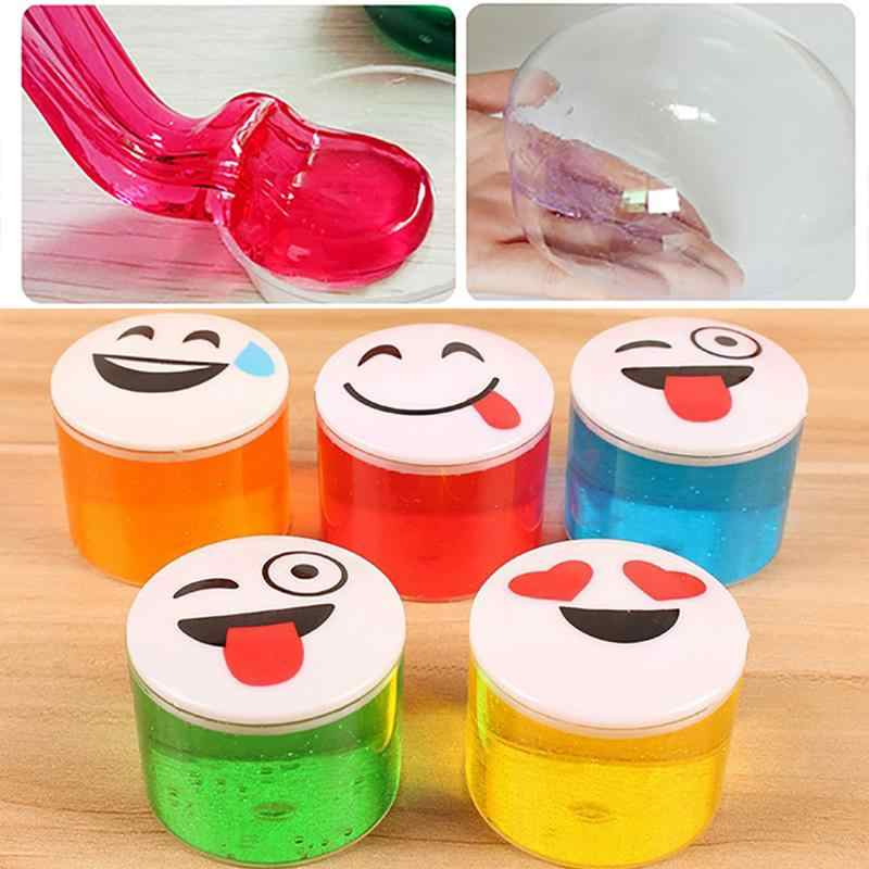 Children Crystal Clay Slime Educational Smiley Face Fluffy Crystal Clay Kids Safe Non-toxic Plasticine DIY Crystal Mud