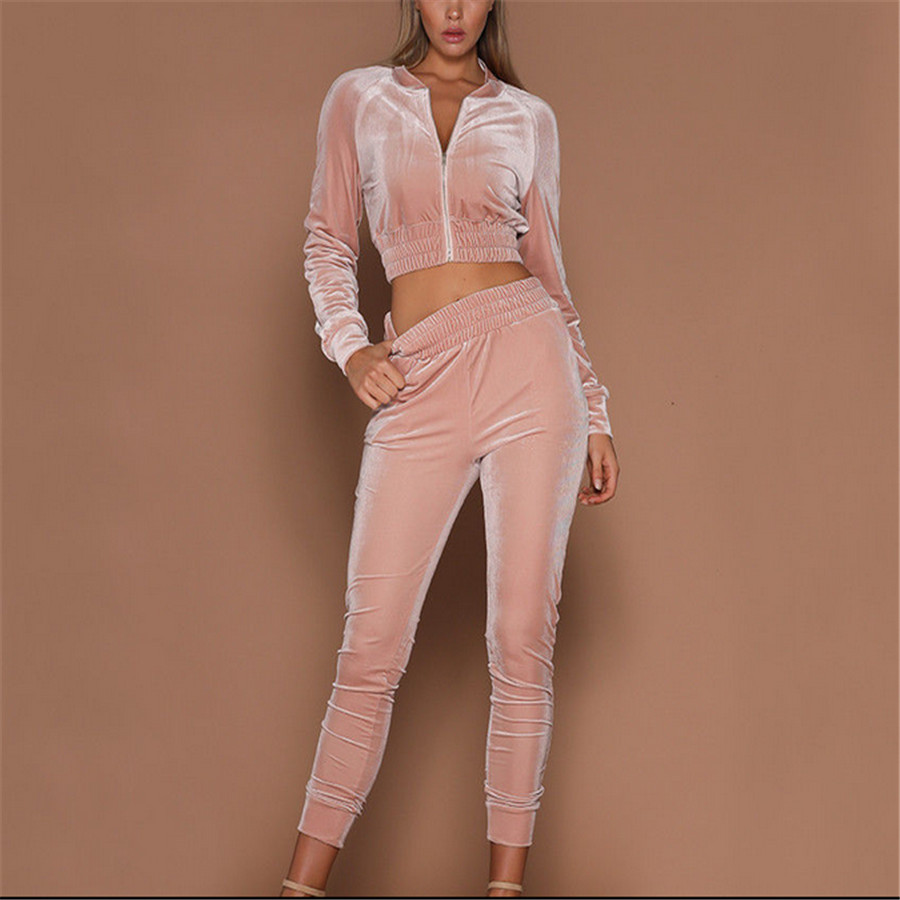 389c92a2b6942 US $10.96 30% OFF|Thefound New 2019 Brand 2Pcs Women Ladies Tracksuit  Hoodies Sweatshirt Pants Sets Sport Wear Casual Suit-in Women's Sets from  ...