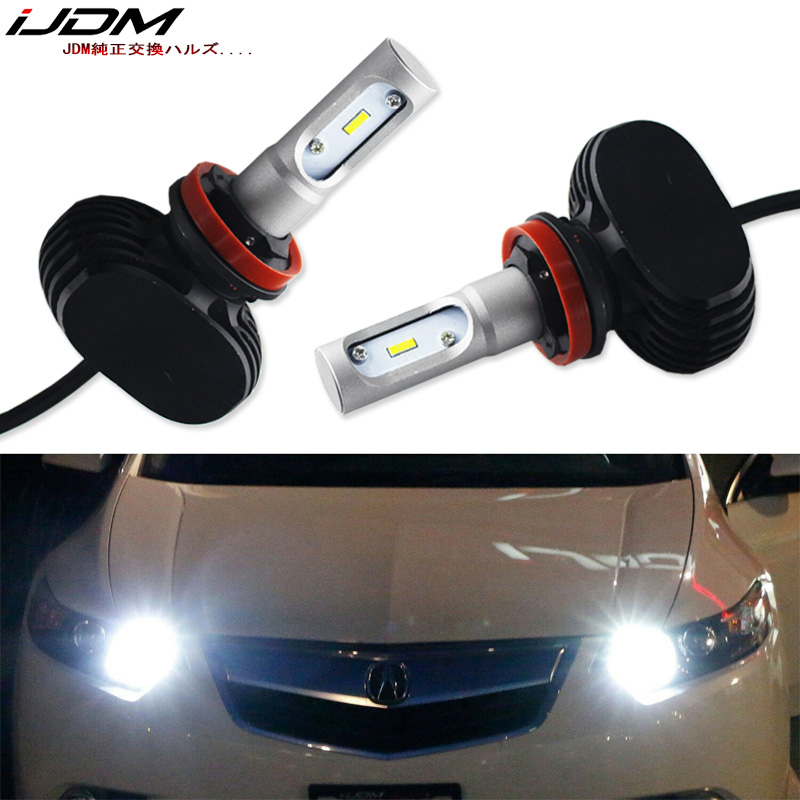 iJDM Car Headlight 9005 LED HB3 LED For For <font><b>Acura</b></font> ILX <font><b>TSX</b></font> MDX TL RL Honda civic High Beam Daytime Running Light 12V 6000K White image