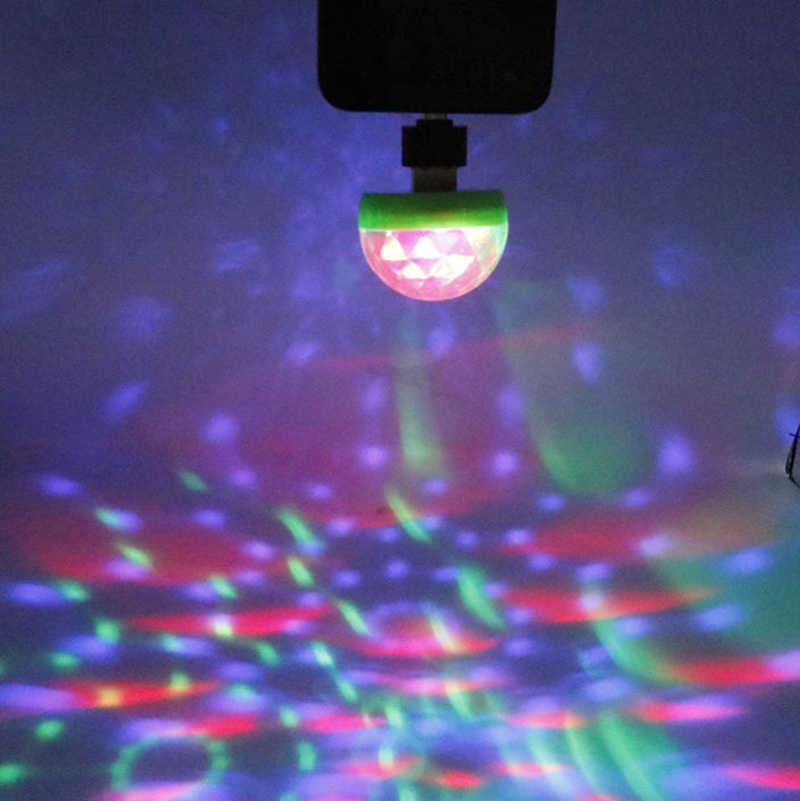 Mini USB Disco światła DMX RGB etap projektora wakacje Party nowy rok produktu dekoracje na boże narodzenie Wedding Party lampa