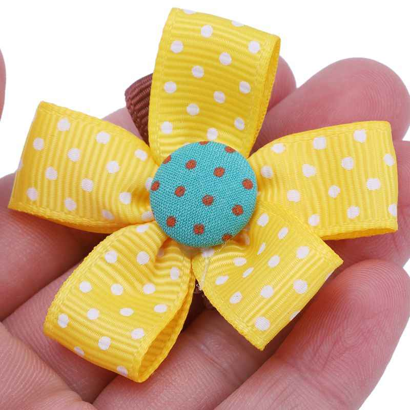 6Pcs Nette Baby Mädchen Haar Clips Handgemachte Stoff Bowknot Crown Haarnadeln Kleinkind Kinder Kinder Haar Zubehör Kit #8