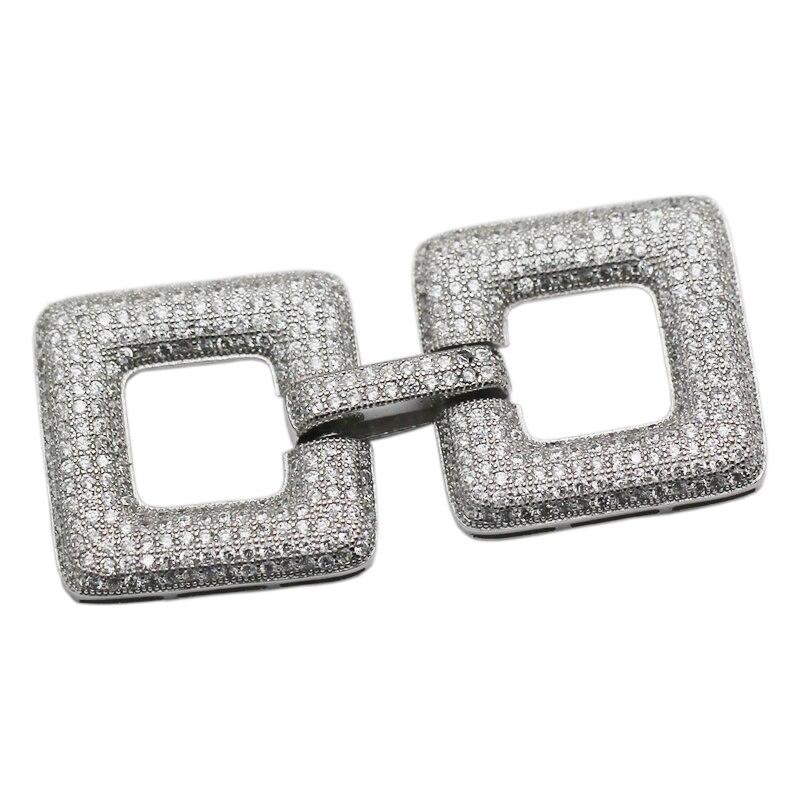 Beadsnice 925 argent Sterling pli sur fermoir CZ fermoir fait main fabrication de bijoux résultats 35299 - 2