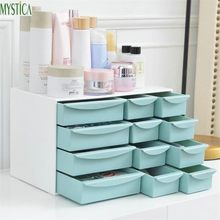 1pcs Plastic Drawer Storage Box Home Makeup Organizer Holder Big Capacity Cosmetic Jewelry Boxes Desktop Sundries Container Case(China)