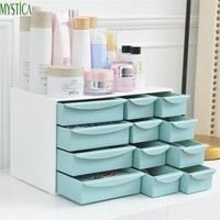 1pcs Plastic Drawer Storage Box Home Makeup Organizer Holder Big Capacity Cosmetic Jewelry Boxes Desktop Sundries Container Case