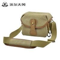 Coffee/Khaki Color Canvas Camera Bag Shoulder Bag Camera Case For Sony A6300 K50 A5100 Mirrorless System Camera