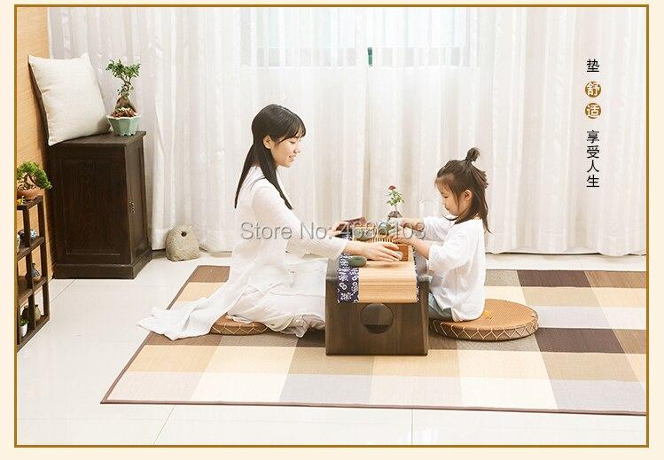 Tapis de Tatami en bambou de style japonais Design Oriental tapis de Yoga de sol Zen de style asiatique pour tapis de Fiber de chambre à coucher