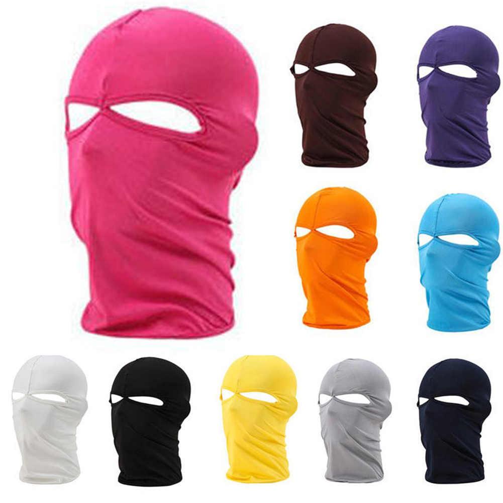 28da52bc Men Women Outdoor Dustproof Cap Riding Bicycle Cycling Ski Hat Balaclava  Full Face Mask Two Holes
