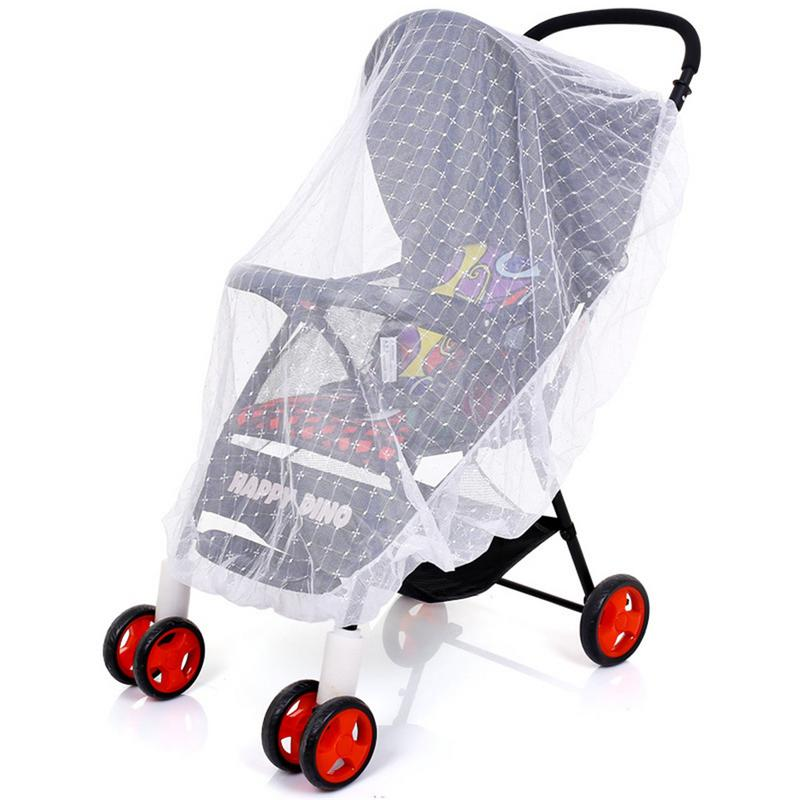 Infants Baby Stroller Mosquito Net Safe Mesh Buggy Crib Netting Cart Mosquito Net Pushchair Full Cover Netting