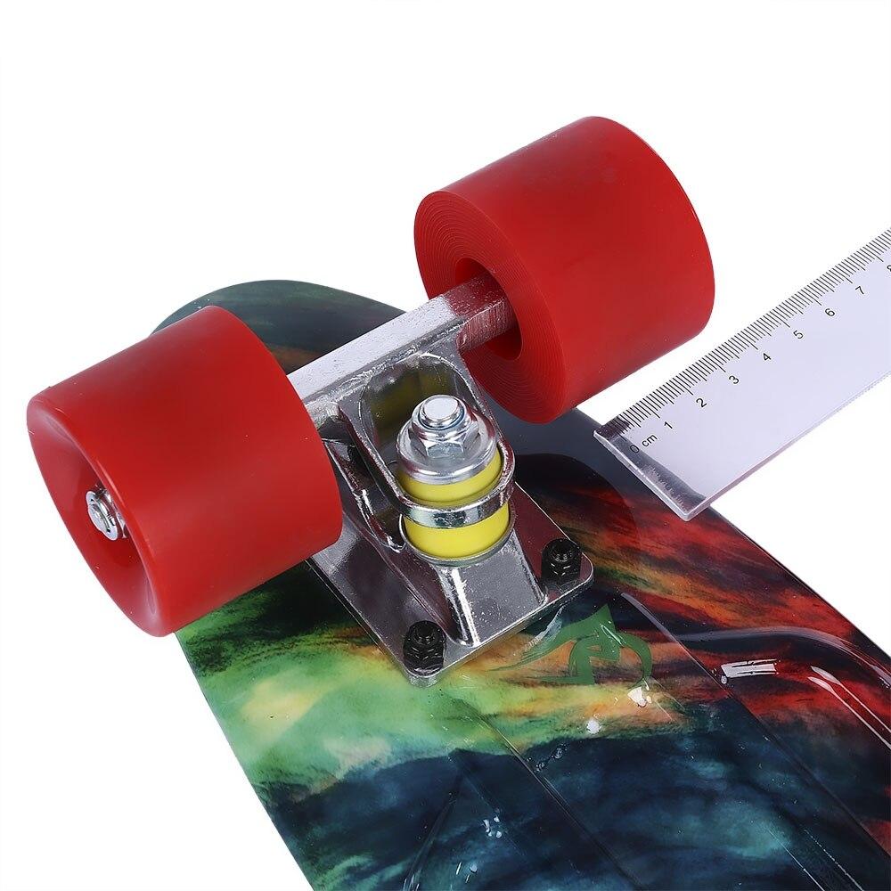 Quatre roues 22 pouces Mini Cruiser Skateboard rue longue planche à roulettes Sports de plein air PP dérive planche plate-forme pour adultes enfants - 5