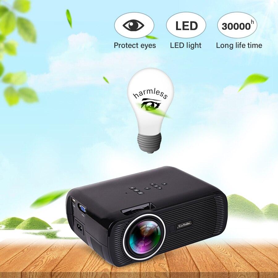 Домашний кинотеатр Мини Портативный HDMI USB ЖК светодиодный мини микро Пико 3D проектор HD 1080P прожектор проектор, мультимедийный проектор - 4