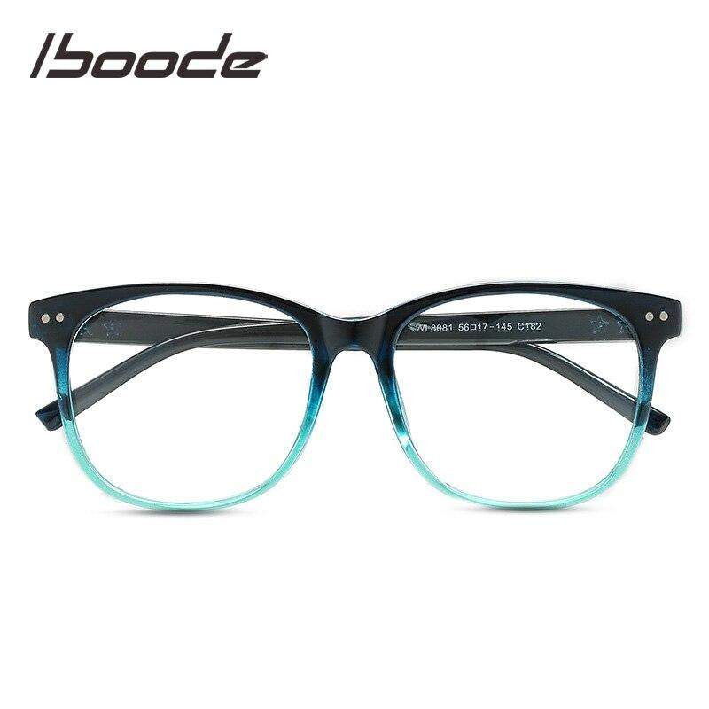 Iboode Spectacles Frame Square Glasses Frame Clear Lens Women Hipster Eyewear Optical Frames Myopia Nerd Eyeglasses Frame