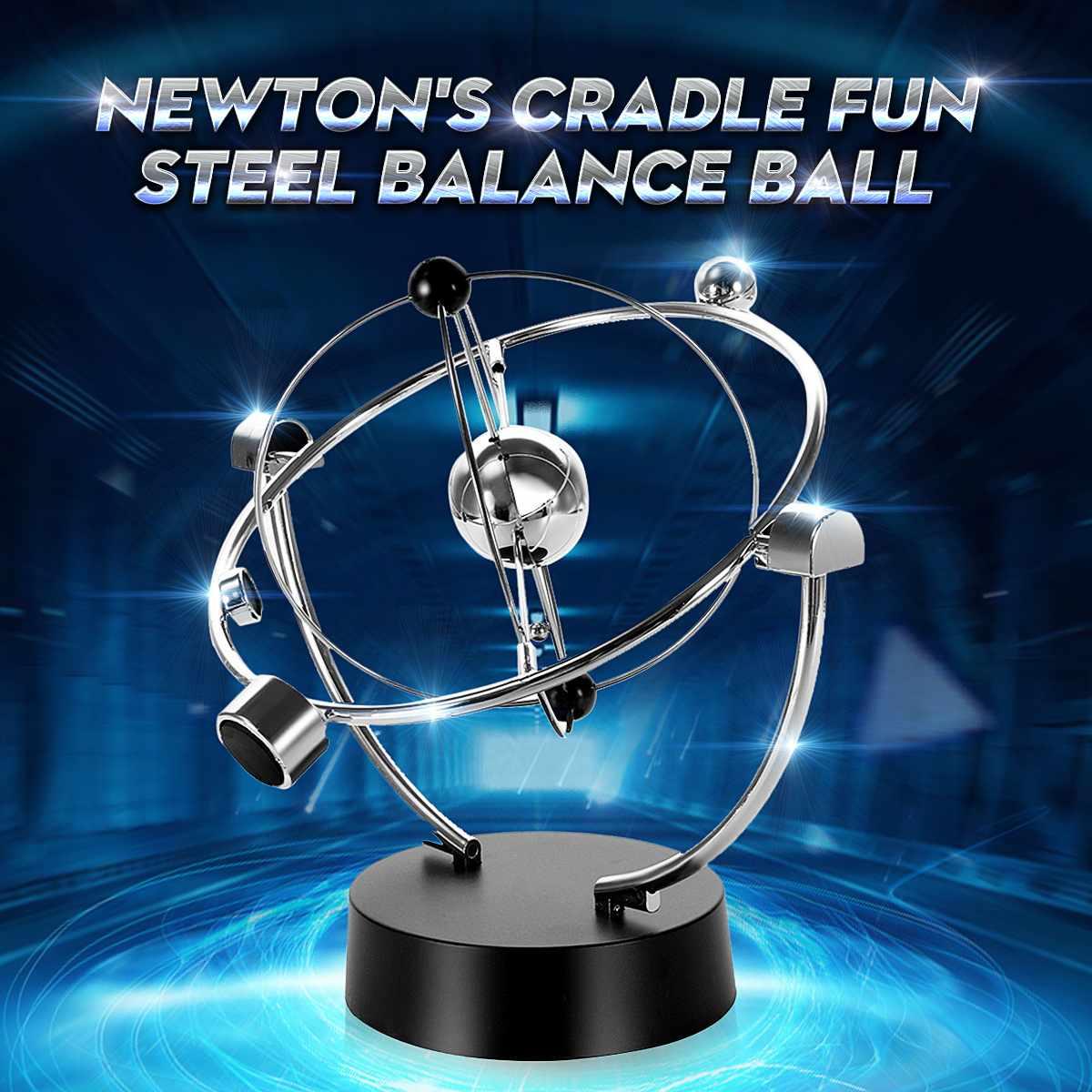 Раннее веселье развивающая настольная игрушка подарок вечный баланс небесный глобус маятник Ньютона Физика Наука образовательная Физика      АлиЭкспресс