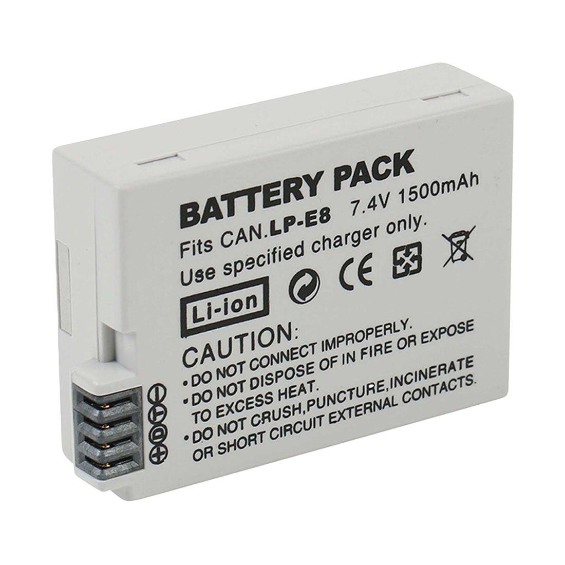 High Quality LP-E8 Battery Pack Bateria LP-E8 Lp E8 For Canon 550D 600D 650D 700D X4 X5 X6i X7i T2i T3i T4i T5i DSLR Camera 0.11High Quality LP-E8 Battery Pack Bateria LP-E8 Lp E8 For Canon 550D 600D 650D 700D X4 X5 X6i X7i T2i T3i T4i T5i DSLR Camera 0.11