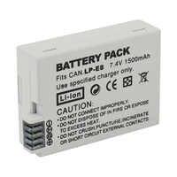 Hohe Qualität LP-E8 Akku Bateria LP-E8 Lp E8 Für Canon 550D 600D 650D 700D X4 X5 X6i X7i T2i t3i T4i T5i DSLR Kamera 0,11