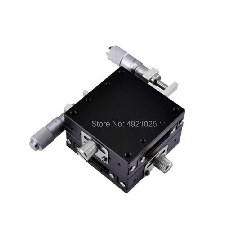 60*60mm 13mm XY axe étapes de remplacement linéaire stade roulement à billes manuellement plate-forme Tuning Table coulissante en acier type de rouleau