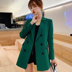 Image 4 - PEONFLY 黒、緑、女性ブレザーやジャケット 2019 春の新作秋のファッションブレザー Femenino 女性のブレザー女性