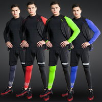 Tights Sports Men's Compression Training Clothes Suits 4PCS Sportswear Suits GYM Workout Jogging Sports Clothing TracksuitDryFit