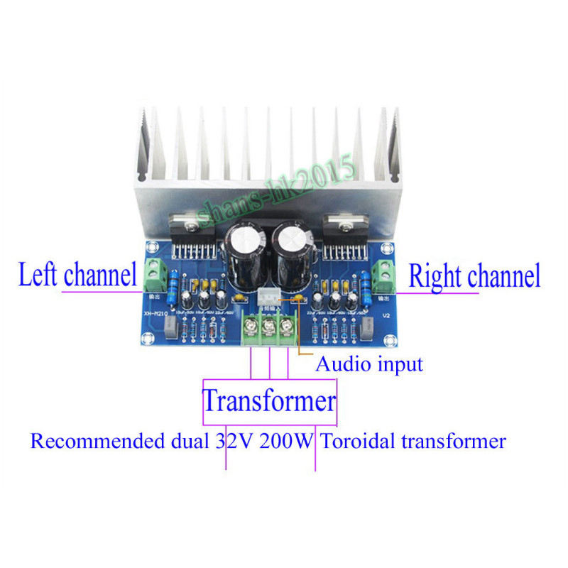 Image 4 - TDA7293 Audio Amplifier Board 100Wx2 Digital Stereo Power Amplifier Board With Heatsink Dual AC12 32V-in Amplifier from Consumer Electronics