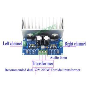Image 4 - TDA7293 ses amplifikatörü Kurulu 100Wx2 Dijital Stereo güç amplifikatörü Kurulu Heatsink Çift AC12 32V
