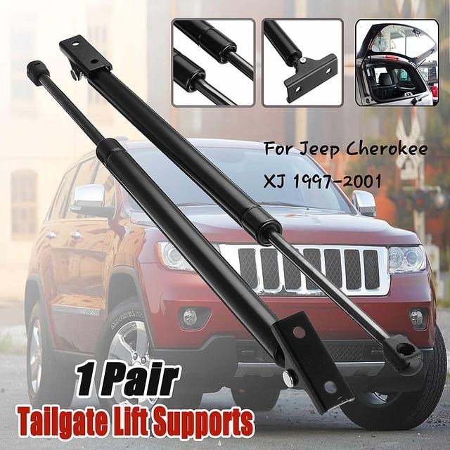 Elevador de puerta trasera Liftgate de 2 piezas compatible con puntal para Jeep cheroki XJ 1997-2001