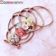 Balleenbrillant 5 pièces/ensemble nouveau-né bébé fleur bandeau infantile filles nœud élastique bandeau Princesses chapeaux accessoires cadeaux