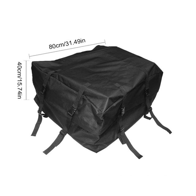 80X80X40CM Car Waterproof Cargo Roof Bag Car Rooftop Cargo Carrier Bag Soft Rooftop Luggage Carriers With Straps 1