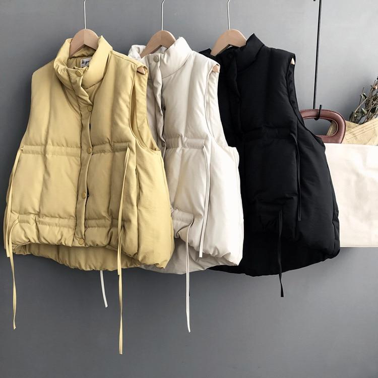 Mooirue зима-осень парка пальто жилет женский восстановить потянув веревку без рукавов хлопковая водолазка печати Новые поступления пальто
