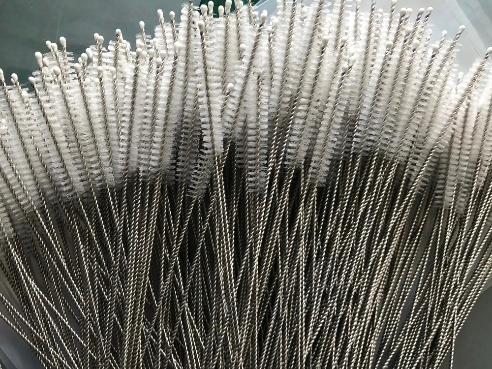 WOWSHINE سريعة طريقة الشحن 2500 قطعة/الوحدة سميكة الفولاذ المقاوم للصدأ القش فرشاة طول 20 سنتيمتر x 10 ملليمتر x 5 سنتيمتر تنظيف فرشاة-في إكسسوارات البار الأخرى من المنزل والحديقة على  مجموعة 1